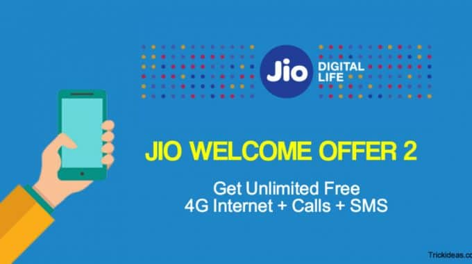 Jio Welcome Offer 2: Now Get Unlimited Internet, Voice Calls, SMS till March 2017