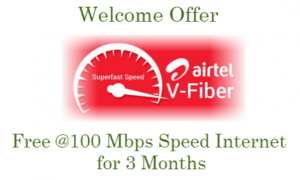 Airtel V Fiber Broadband Plans