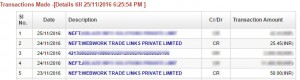web work links trade payment proof