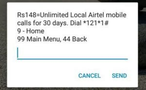 Airtel Unmilted Calling at Rs 148