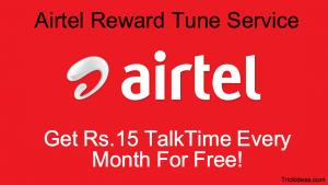 Airtel Reward tune Service