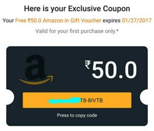 Xender Amazon app offer proof