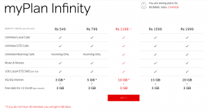 airtel infinity plans free internet
