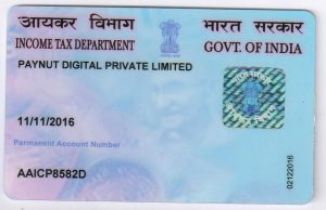 Paynut digital legal documents pancard