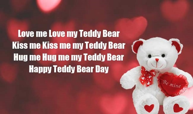 happy teddy bear day quote image