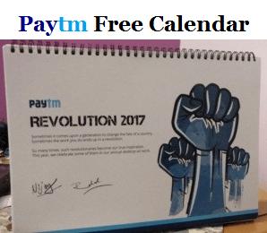 Paytm Free Calendar
