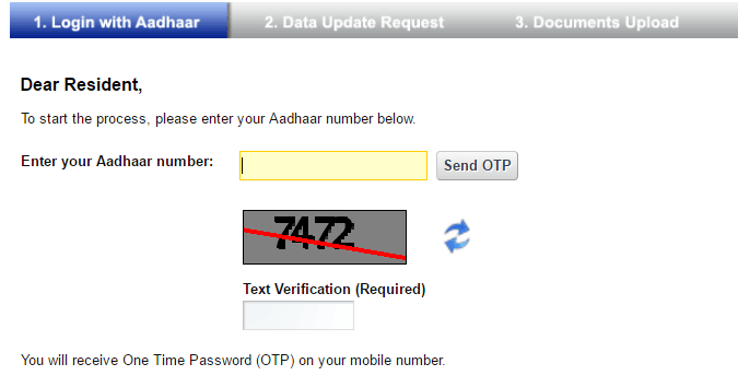adhaar website