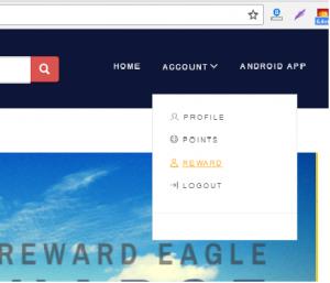 reward eagle redeem points