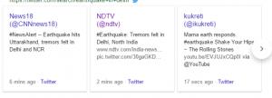 twitter delhi eathquake