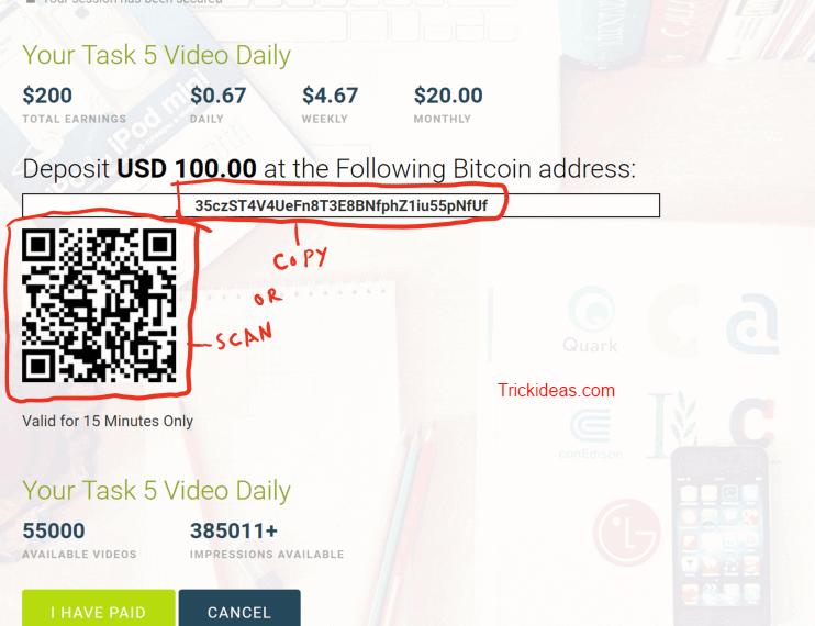 viewclip send bitcoin