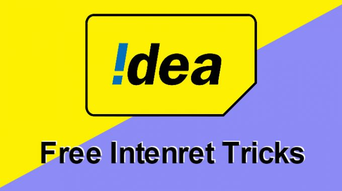 Idea Free Internet Trick: Working 100% for 11 May 3G/4G Internet
