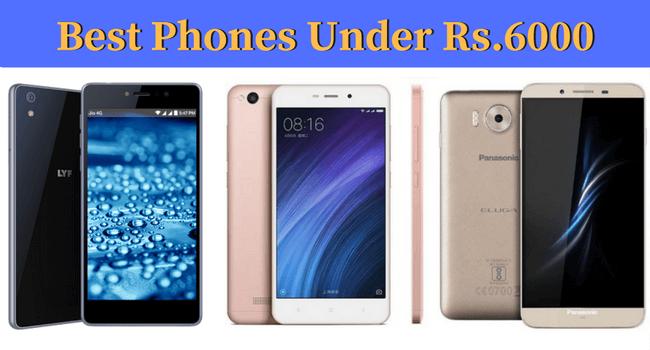 Best smartPhone Under 6000