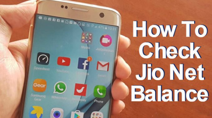 How to Check Jio Net Balance, Own Jio Number for April