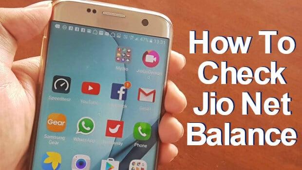Check Jio Net balance
