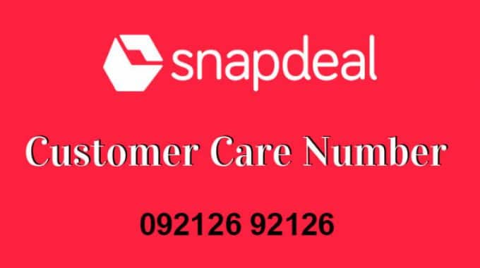 Snapdeal Customer Care Number: 26 April Toll Free 1800 Number