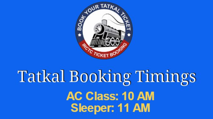 Irctc Tatkal Booking Timings: Tatkal Ticket Booking Timings for 27 May