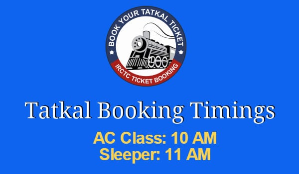 Irctc Tatkal Booking Timings