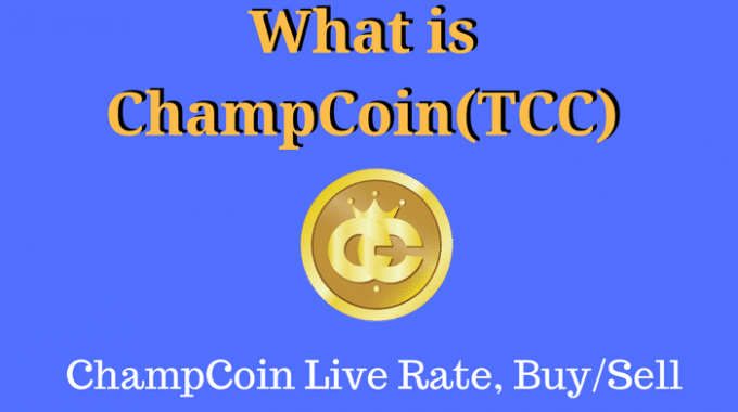 What is Champcoin: ChampCoin Live Rate for Today 27 May 2017