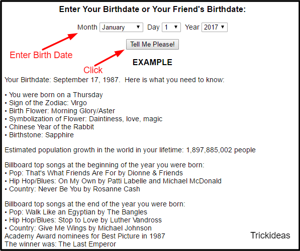Check birthdate