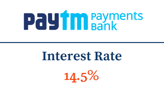 paytm payment bank interest Rate