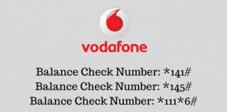 Balance Check Number