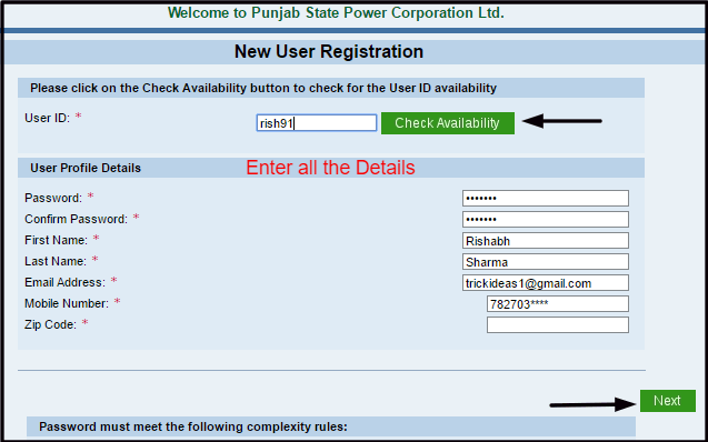 pspcl register now