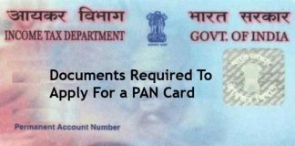 documents required for pan card