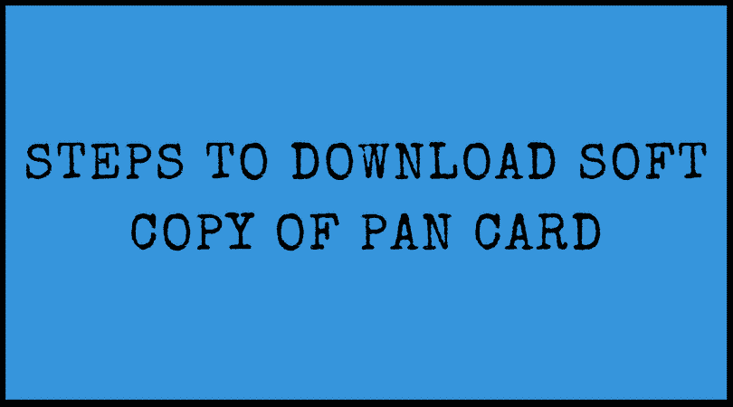 pan card download