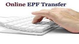 Transfer PF online