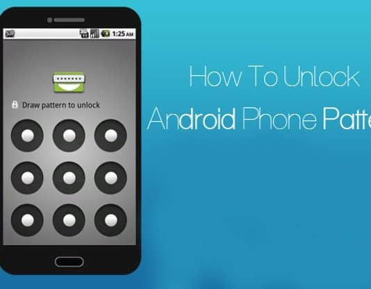 Unlock android phone pattern